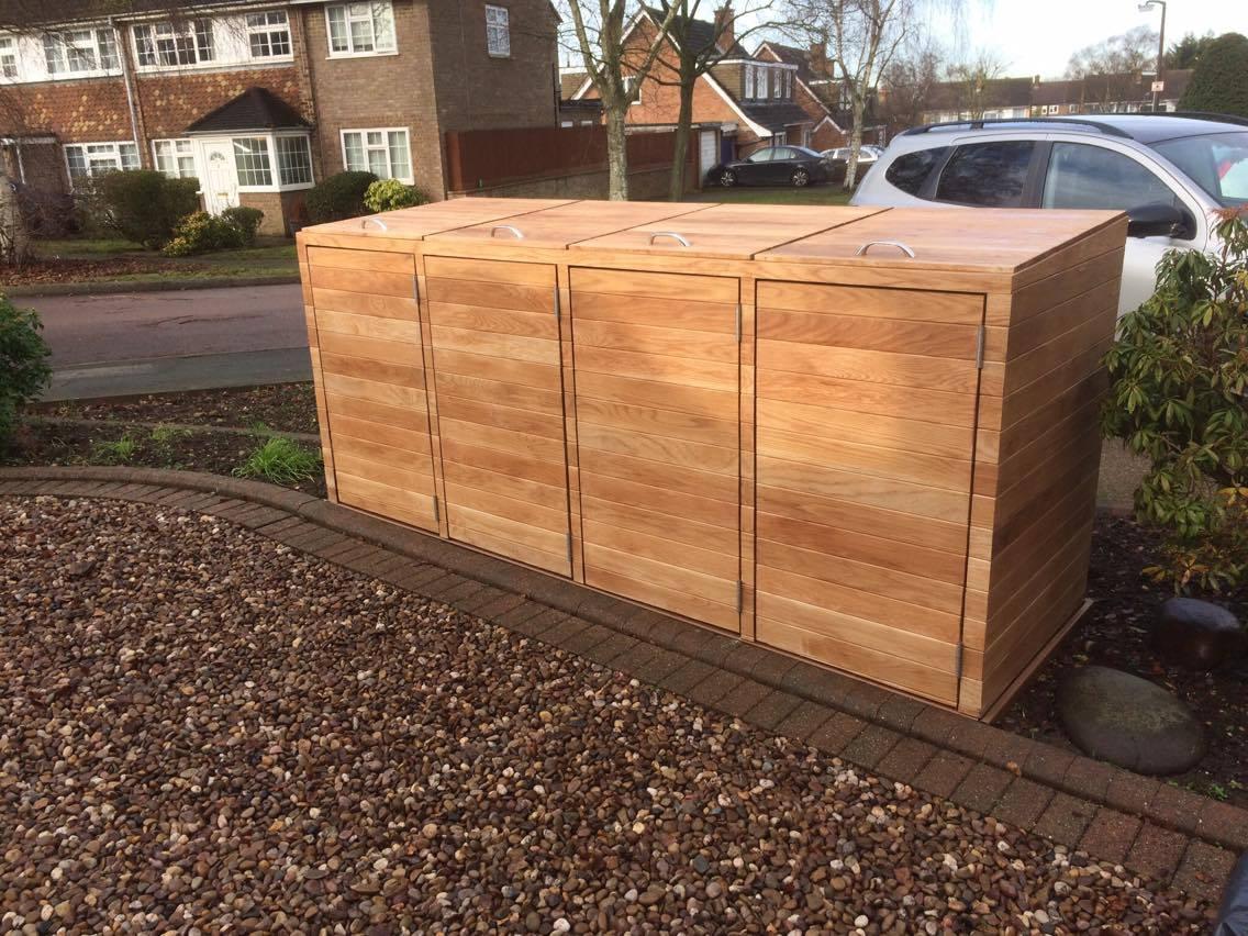 wheelie bin store oak