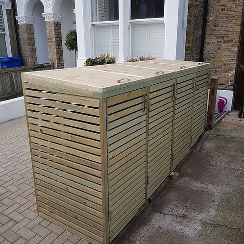 Pressure Treated Slatted Bin Store