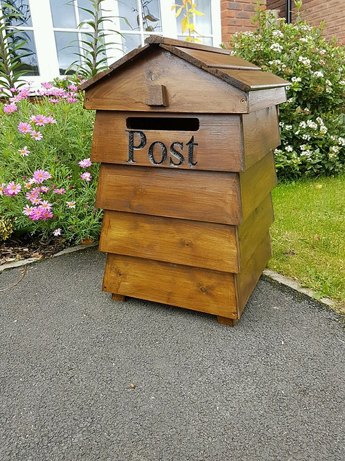 Beehive Stained Post Box