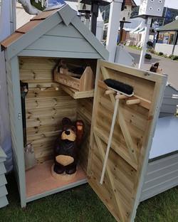 Tool store set up at #malvernthreecountiesshowground #rhs #garden #gardening #shed #toolshed #toolst