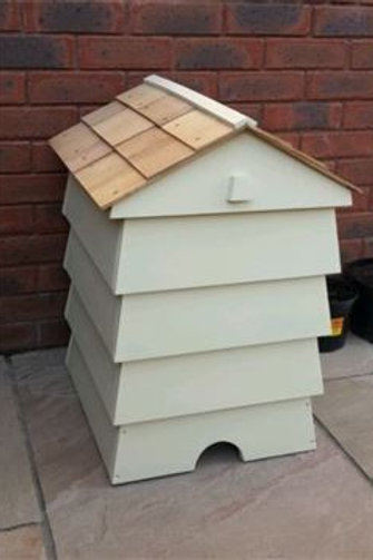 Beehive Composter With Cedar Shingle Roof