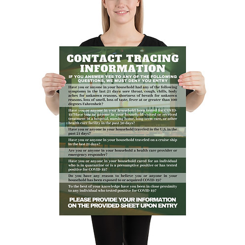 Contact Tracing Questions Poster