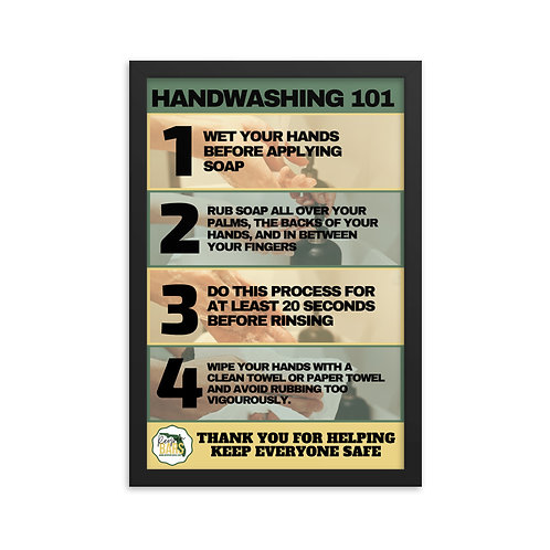 Hand-washing Framed poster