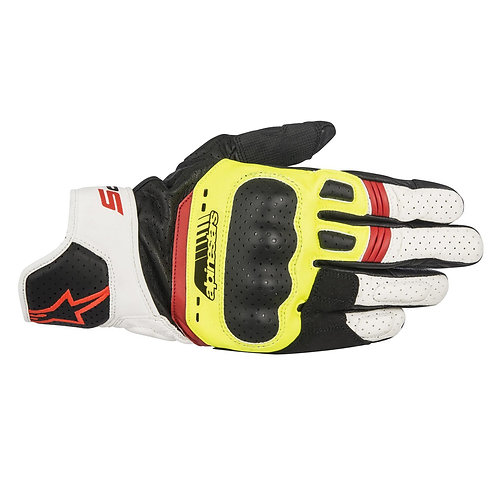 Alpinestars SP-5 Yellow White & Red Glove