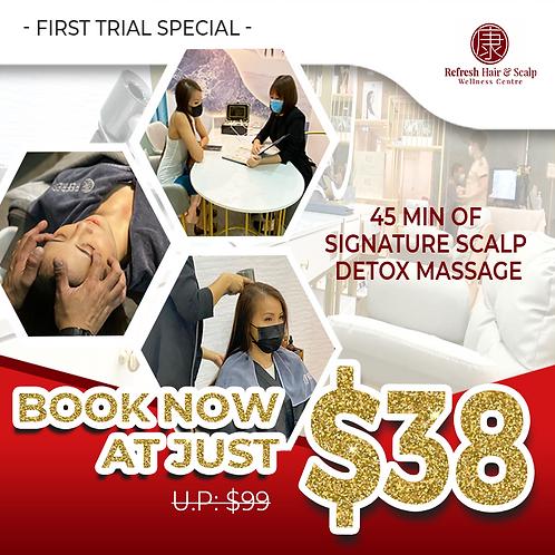 Signature Scalp Detox Massage @ $38