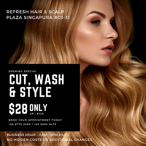 NEW ME Hair Styling @ $28