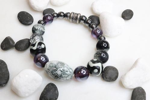 bracelet, beaded bracelet, mens bracelet, womens bracelet, stone bracelet, quartz bracelets, glass bracelets,skull bracelets