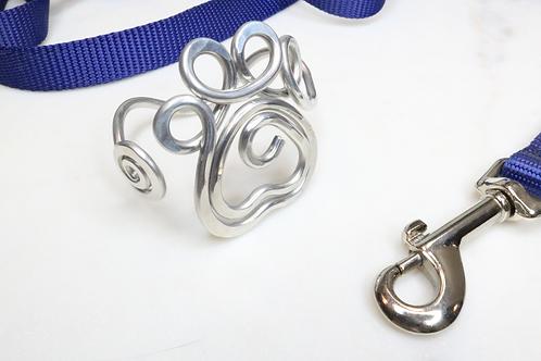 Paw print bracelet, paw print cuff, animal jewelry, doggy jewelry, metal jewelry, North Carolina jewelry, NC jewelry