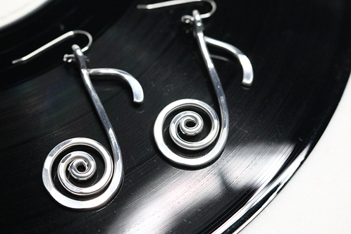 earrings, dangling earrings, silver earrings, music earrings, musical earrings, ladies jewelry, online jewelry,womens jewelry