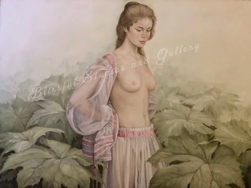 art, painting, oil painting, original art, original painting, nude, nude painting, Cloutier art, Cloutier nude, soft nude