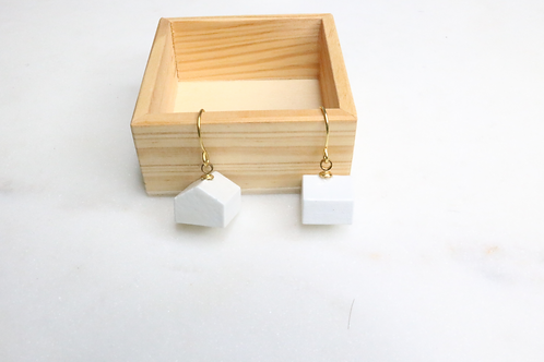 hite house earrings, house earrings, architectural earrings, architecture earrings, monopoly earrings, building earrings