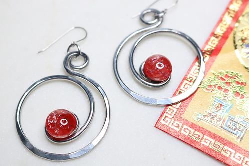 earrings, costume jewelry, silver earrings, whimsical jewelry, fashion accessory, fashion jewelry, circular earrings