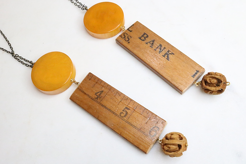 necklace, pendant, costume jewelry, fashion accessory, statement piece, yardstick jewelry, yardstick pendant, yardstick