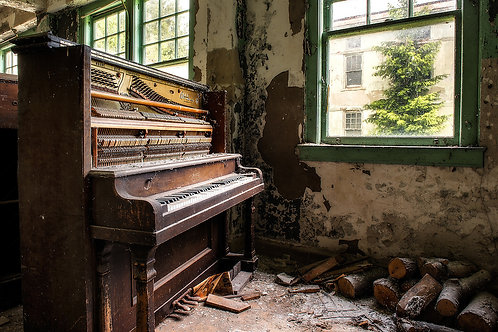 Vintage piano, sepia piano, Arnold's piano, piano print,piano photography, deserted piano, abandoned piano, relic of piano