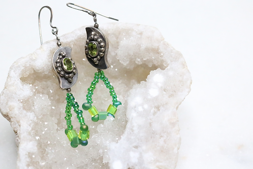 earrings, jewelry, earrings for women, fashion jewelry, dangling earrings, beaded earrings, costume jewelry, peridot earrings