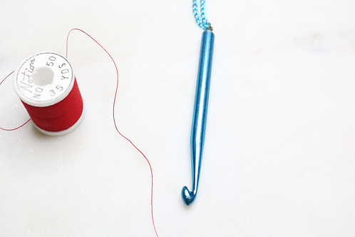 Long Single Point Knitting Needle Necklace