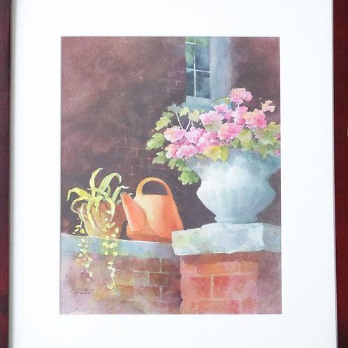 painting, wall art, wall decor, wall hanging, wall painting, Alexis Lavine painting, Lavine painting, water color, floral