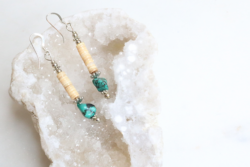 earrings, womens earrings, turquoise earrings, turquoise hanging earrings, womens jewelry,costume jewelry, statement piece,