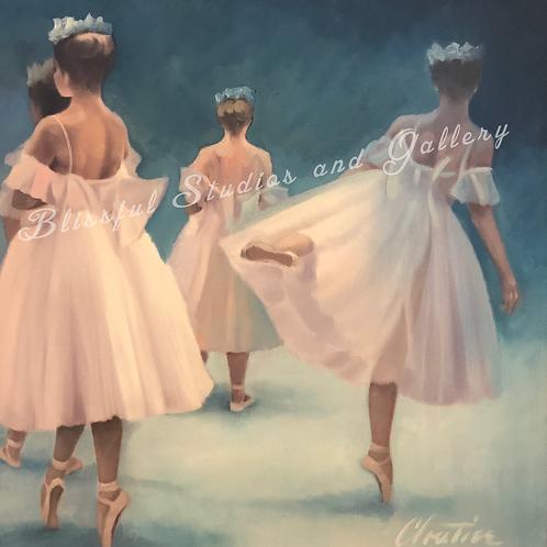 art, oil painting, painting, original art, original painting, Cloutier art, Cloutier painting, ballet painting, ballerina art