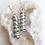 cyclone earrings, cylinder earrings, recycled metal earrings, whimsical earrings, North Carolina jewelry, aluminium earrings