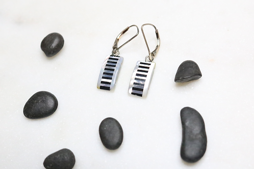 silver earrings, black earrings, dangling earrings, costume jewelry, stone earrings, fashion accessory, shell earrings