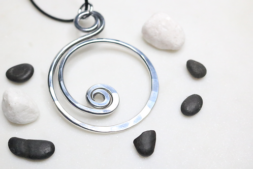 pendant, silver pendant, aluminum pendant, fashion accessory, fashion jewelry, necklace, statement piece, costume jewelry