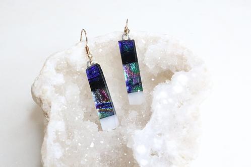 earrings, jewelry, lightweight earrings, glass earrings, glass jewelry, blue earrings, long dangling earrings,costume jewelry
