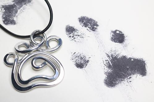pendant, silver pendant, dog lover pendant, paw print pendant, animal lover pendant, ladies pendant, womens pendant, necklace