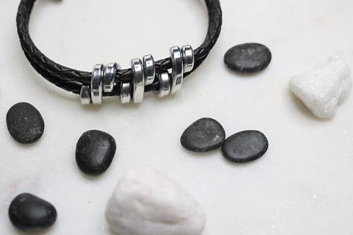 bracelet, silver bracelet, leather bracelet, black bracelet, mens bracelet, womens bracelet, ladies bracelet, costume jewelry