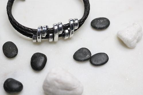 bracelet, silver bracelet, leather bracelet, black bracelet, mens bracelet, womens bracelet, ladies bracelet, costume jewelry
