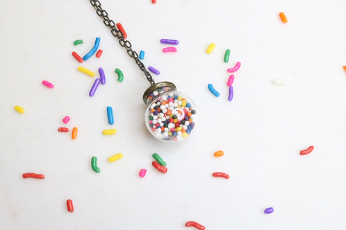 bubble gum pendant, ball cake pendant, whimsical jewelry, fun jewelry, North Carolina jewelry, NC jewelry, kids jewelry