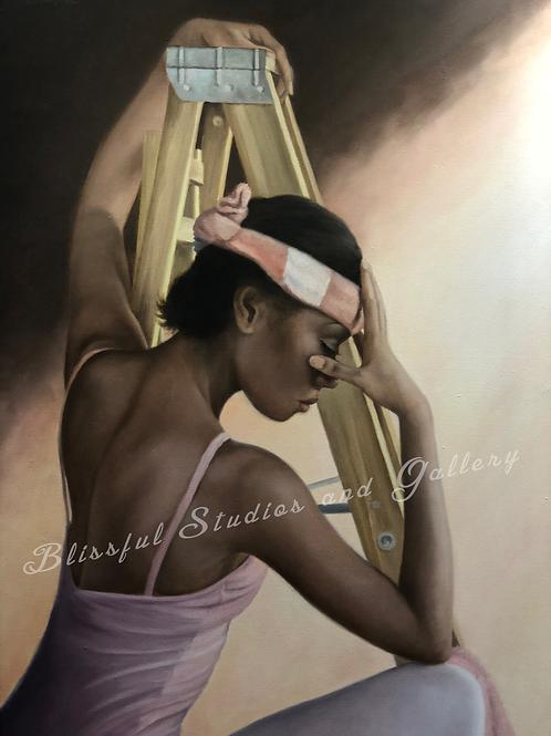 art, painting, oil painting, Cloutier art, Cloutier painting,wall decor,canvas painting,ballerina art,ballet art,original art