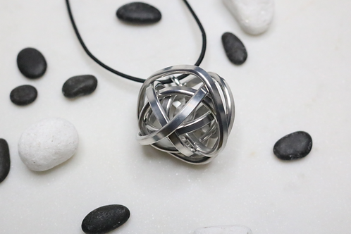 pendant, sphere pendant, silver pendant, recycled pendant, statement piece, fashion accessory, costume jewelry, metal jewelry
