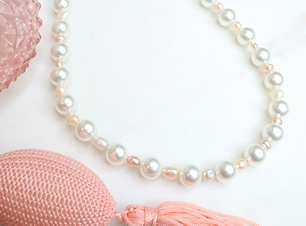 Pretty Pink Pearls Necklace