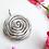 rose necklace,rose pendant, rose bud pendant, metal pendant, recycled metal pendant, whimsical pendant, playful pendant,