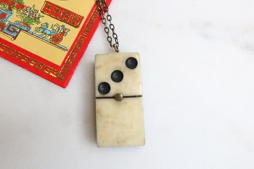 necklace, pendant, domino pendant, domino necklace, costume jewelry, statement piece, game jewelry, womens jewelry,fashion