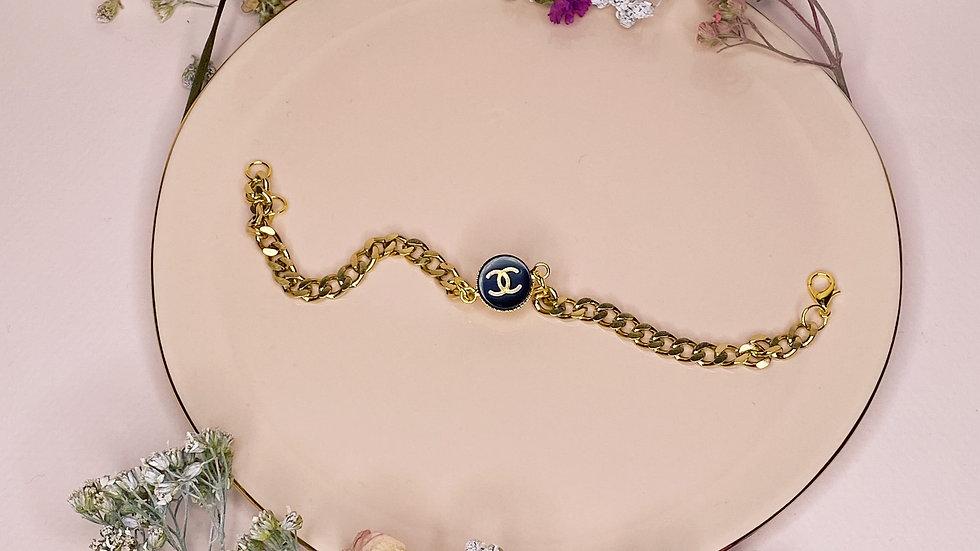 Bracelet upcyclé Chanel noir