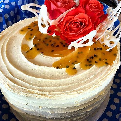 Granadilla Vanilla Cake