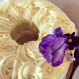 Carrot and Walnut cake (or Beetroot) with Cream Cheese icing