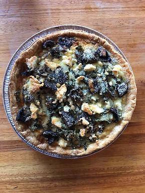 Spinach, Feta and Mushroom Quiche