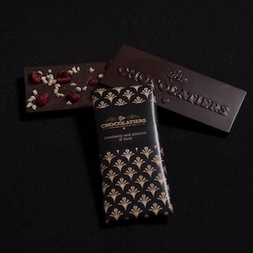 Cranberry and Almond Dark Chocolate Bar