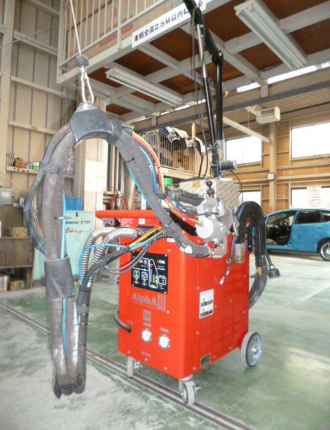 超高張力鋼板対応スポット溶接機