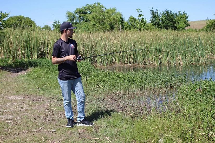 Texas Fishing Black T-Shirt