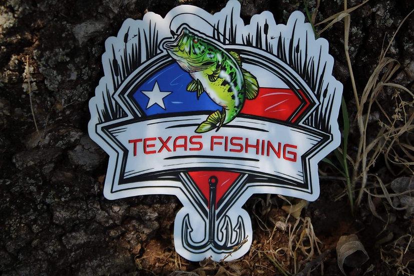 Texas Fishing Sticker (5-Inch)