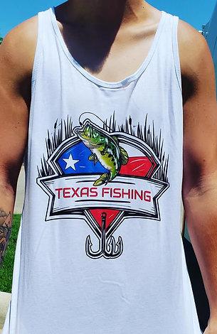 Texas Fishing White T-Shirt