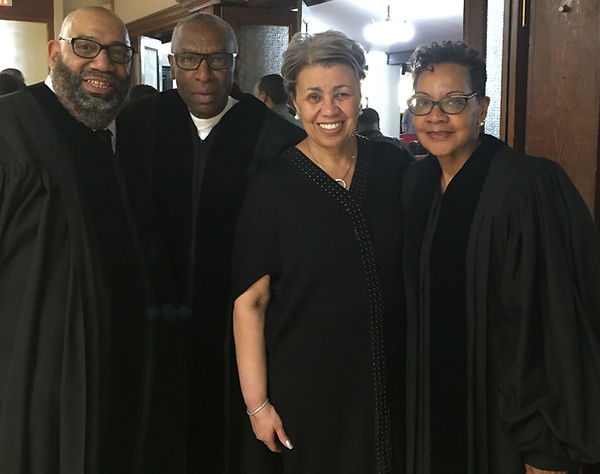 Rev. Andre & Rev. Helen Broady Ordination Service with our Pastors Rev. Floyd & Rev. Elaine Flake