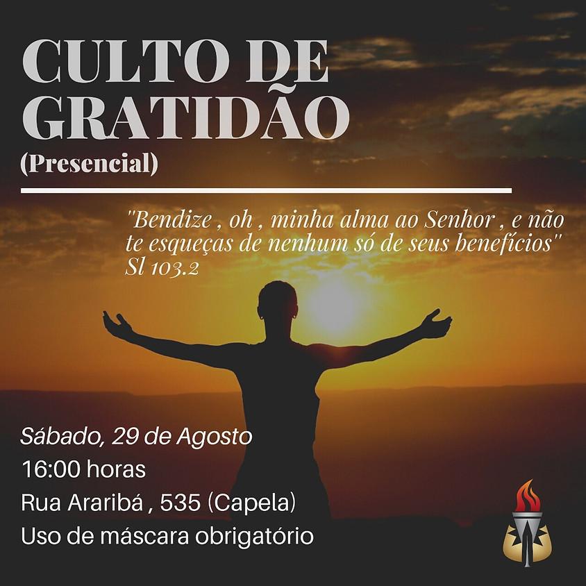 Culto de Gratidão Presencial 2020