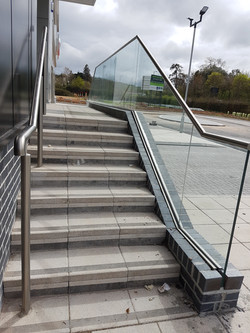 Stainless and glass railings
