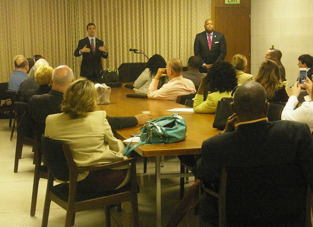 Realtors® meet with Senators Jeff Jackson and Joel Ford in Raleigh.