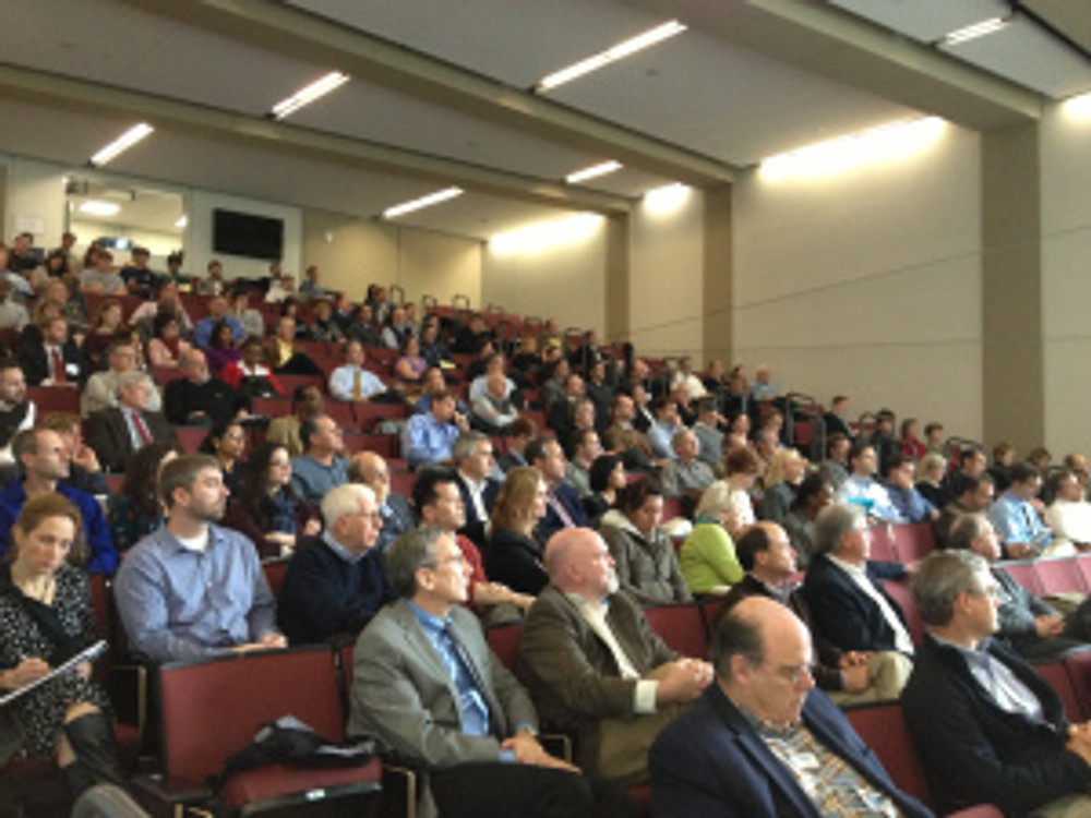 More than 200 people attended the REBIC Forum to hear Kotkin speak